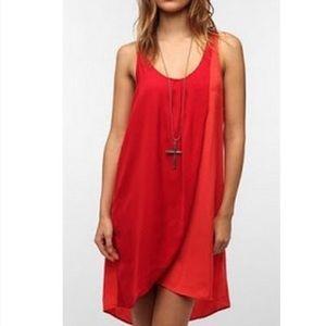 Silence & Noise Red & Orange Dress